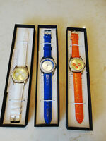 4 Brand New Manhattan by Croton Quartz Watches w/ Leather Bands