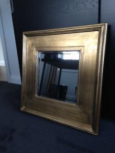 Large Modern Gold Mirror