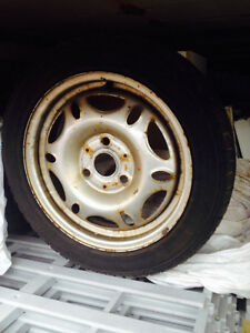 4 Snow tires and rims for Smart car
