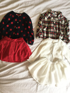 Get ready for the holidays!     Size 2T/3T tops and skirts