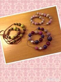 New beaded necklaces & bracelet sets""