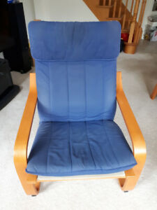 Poang Chair with foot stool