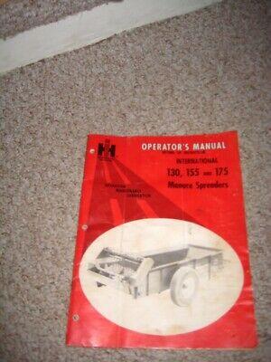 International Harvester 130 155 And 175 Manure Spreaders Operators Manual 1969