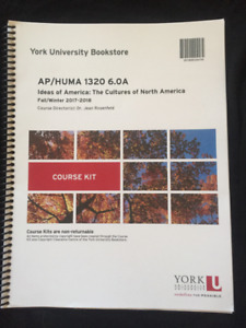 books and course kits for York HUMA 1320 6.0A Ideas of America