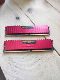 Barely Used Corsair Vengeance LPX 32GB DDR4 Ram Memory - 2400Mhz - Red
