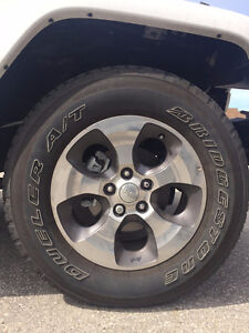 FOR SALE- Set of 5 2016 Jeep Wrangler tires and rims