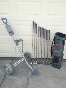 Golf cart and bag for sale