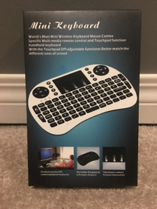 Brand New BLACK Wireless Keyboard/Mouse with Light Up Keyboard