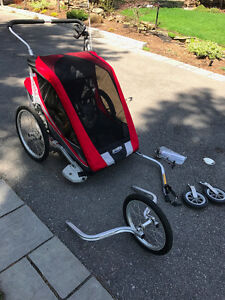 Chariot Cougar 2 with stroller, bike, and jogging attachments