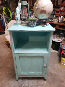 Rustic Painted Storage Cabinet