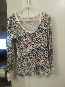 Large leopard top