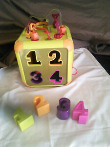 3 Toddler Toys, Activity Cube and Ikea Bead Coaster, Talking Tur