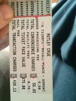 Motley Crüe tickets!!!!! Rexall place