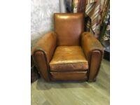Pair Vintage Club Chairs