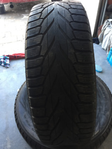 2 Winter Tires Nokian 255/65/R18 Very Good Cond .