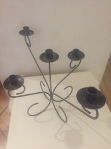 3 chandeliers - bougeoirs - candle holders