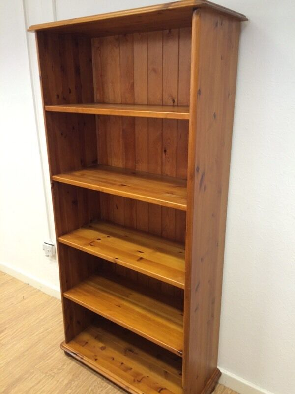 Very Tall Solid Pine Bookcase