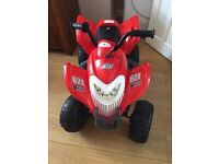 Kids 6v electric quad, with charger. Used but in good condition