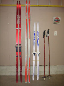 cross country skiis and poles for sale