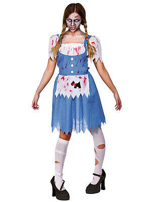 Ladies Zombie Country Girl Fancy Dress Up Party Role Play Halloween Costume New