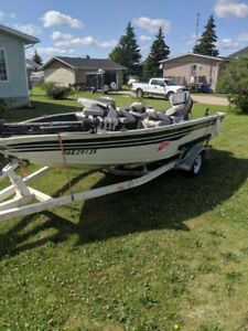 1998 Skeeter 1750 Boat with 115HP Yamaha motor