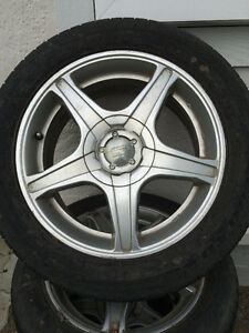 205 / 55 / R16 - 4 TIRES AND RIMS FOR SALE
