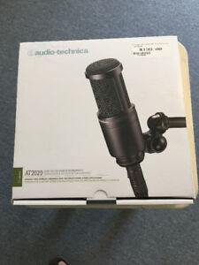 Audio Technica AT 2020 condenser mic, 2 months old