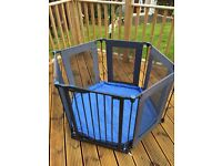 Lindam safe and secure playpen.