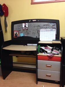 Desk with 3 drawers and computer shelf