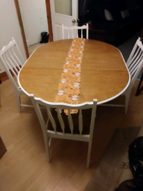 Vintage Stag Madrigal dining table/4 chairs