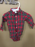 Carter's Plaid collared onesie for baby