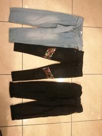 Girl's jeans bundle 4-5 years River island & Tu