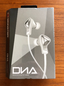 Nice Monster DNA In-Ear Headphones - White-Brand New-Reduced