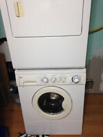 Gas dryer/electric washer