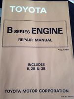 Toyota B-series engine repair manual 1980's