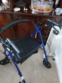 4 wheeled walking frame