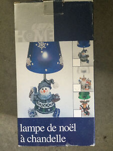 Christmas in July sales, Candle lamp, in box like new