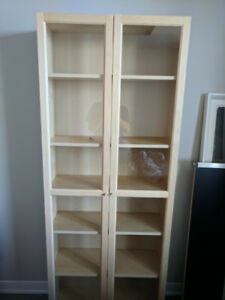 Tall book shelf - birch color - great condition!