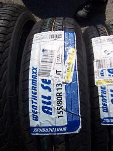 13 inch tires 2 Weather max/2 Douglas (155/80R/13) Brand New