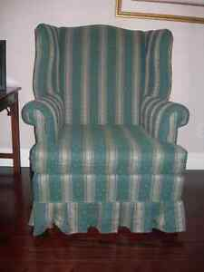 Wing Back Chair-Hunter Green Upholstered Chair Kitchener / Waterloo Kitchener Area image 1
