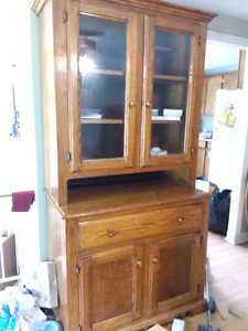 Buffet hutch,  3 piece couch set 2 years old and a massage chair