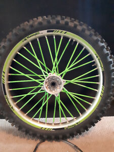 99-02 KX 125 Front Wheel with new bearings. 80$.