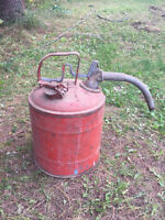 Vintage Gas Can 5 gallon with spout & hand trigger