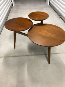 West Elm Clover Coffee Table Walnut/Brass