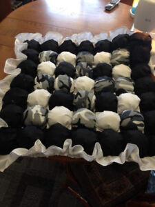 Handmade puff quilts