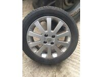 Vauxhall Astra 16 inch alloy wheels & good tyres