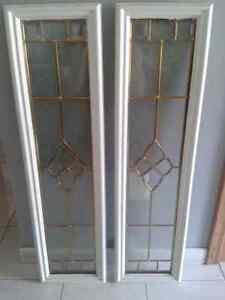 Entry door window inserts