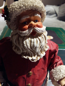 Vintage Singing Santa Claus Statue KSA Collectible