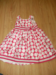 Pink and White Polka Dot Party Dress - 5T