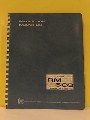 Tektronix 070-314 Type Rm 503 Oscilloscope Instruction Manual